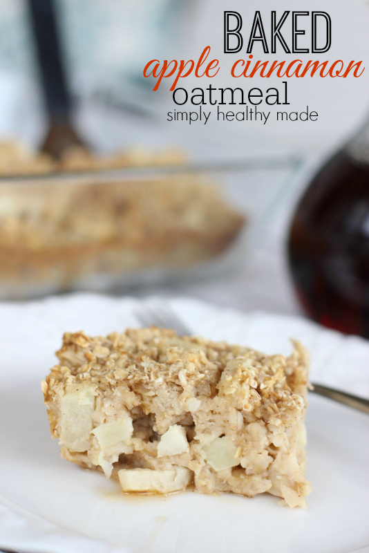 Baked Apple Cinnamon Oatmeal