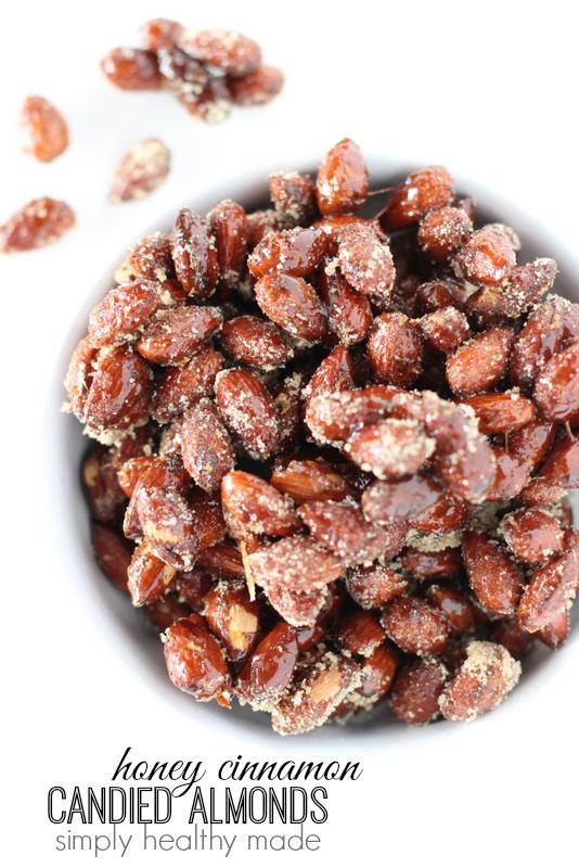 Honey Cinnamon Candied Almonds
