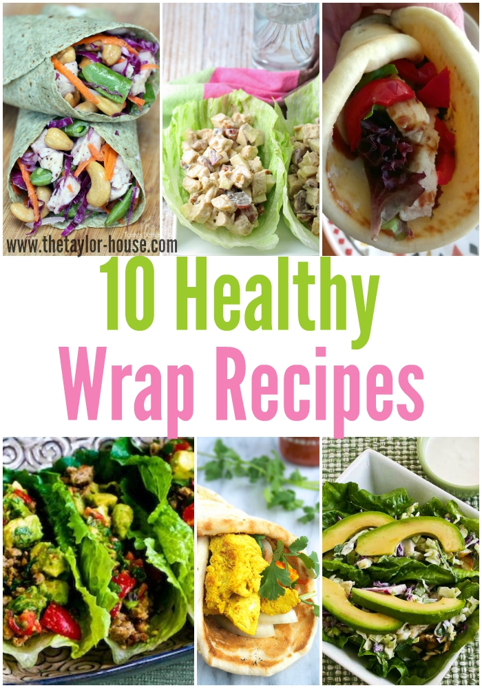 10 Delicious and simple to make Healthy Wrap Recipes!
