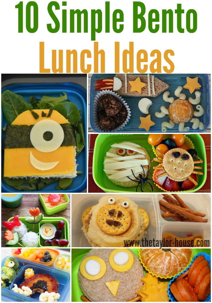 10 Delicious Bento LUnch Ideas!